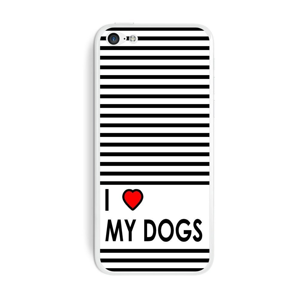 I Love Heart My Dogs Protective Skin Sticker Case | Animals Zone