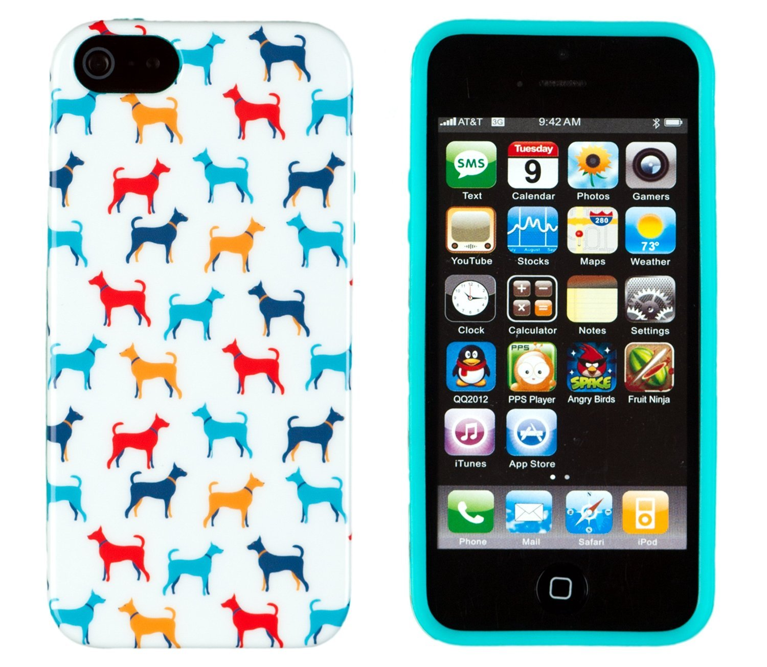 Flexible Slim Case Cover - Vintage Dog Print | Animals Zone