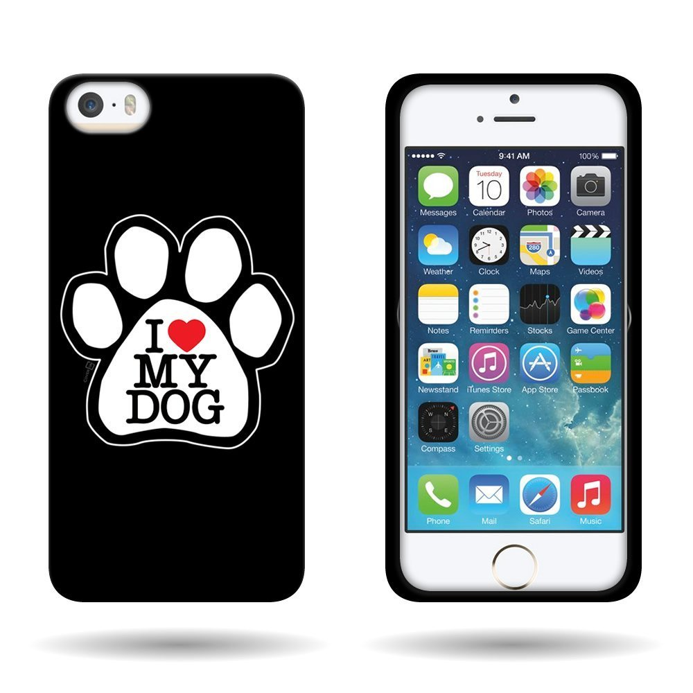 Hard Slim Design Case - Black White Dog Paw | Animals Zone