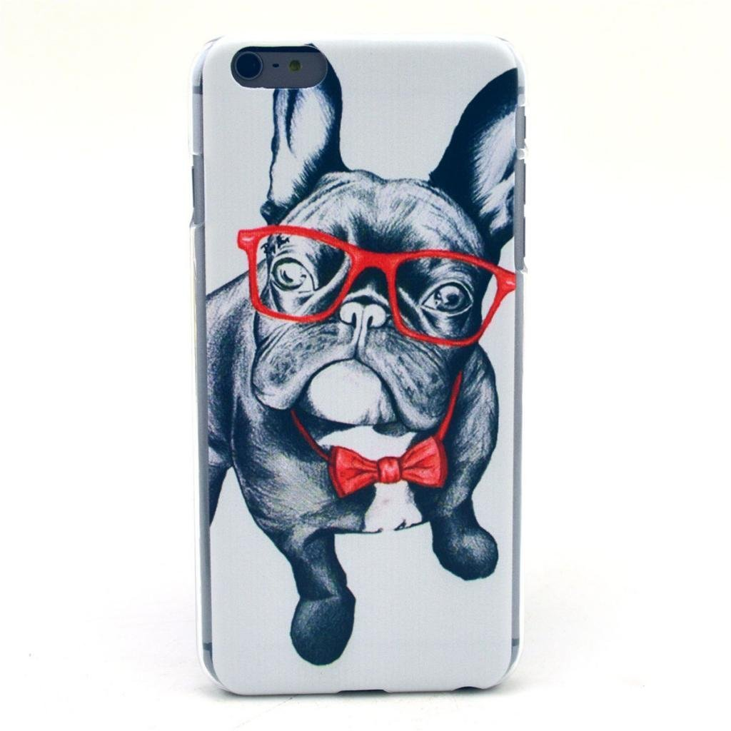 Funny Series Picture [Bespectacled dog Design pattern] Hard Back Case | Animals Zone