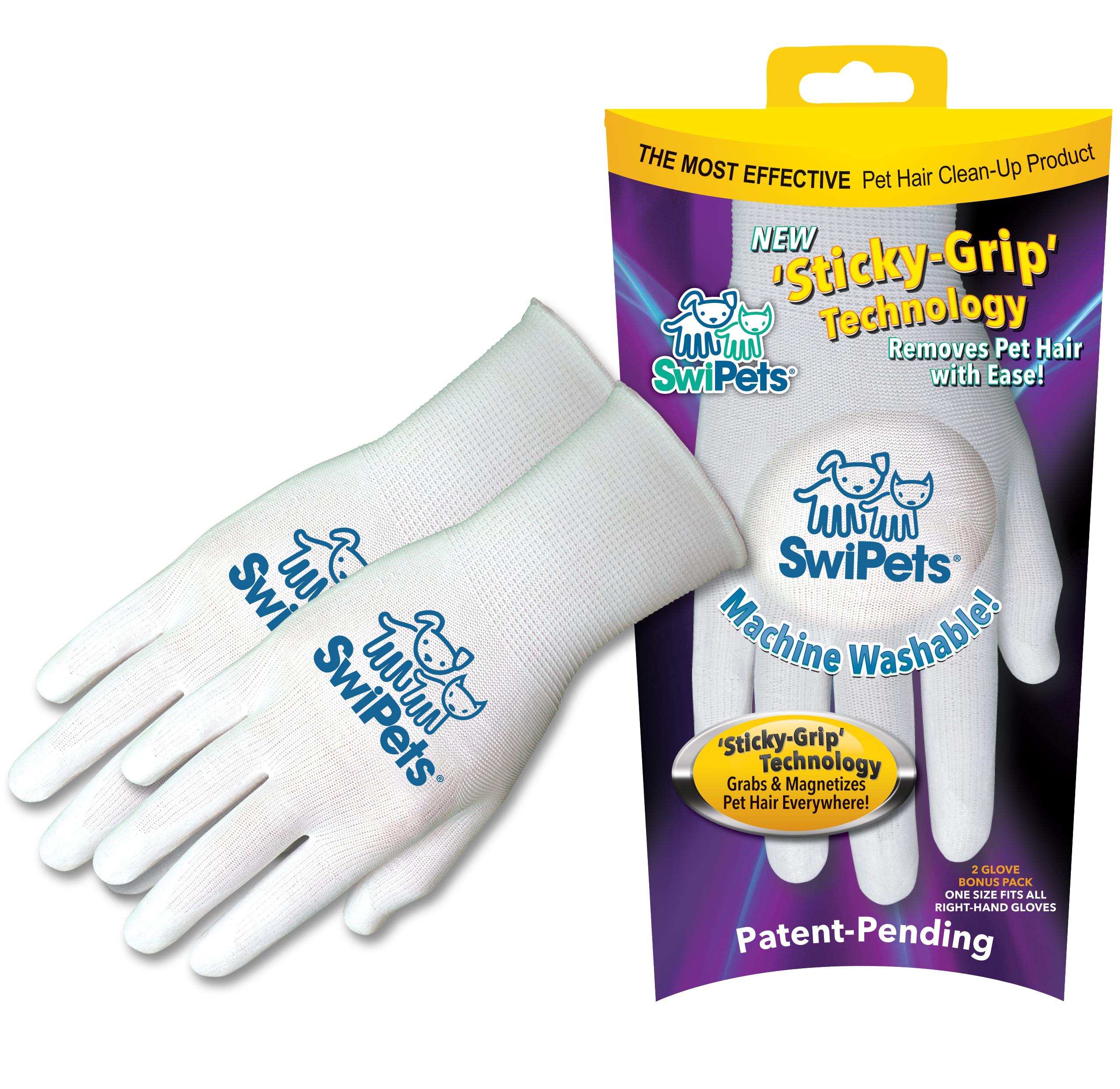 Win a Double-Pack of SwiPets Pet Hair Cleaning Glove!
