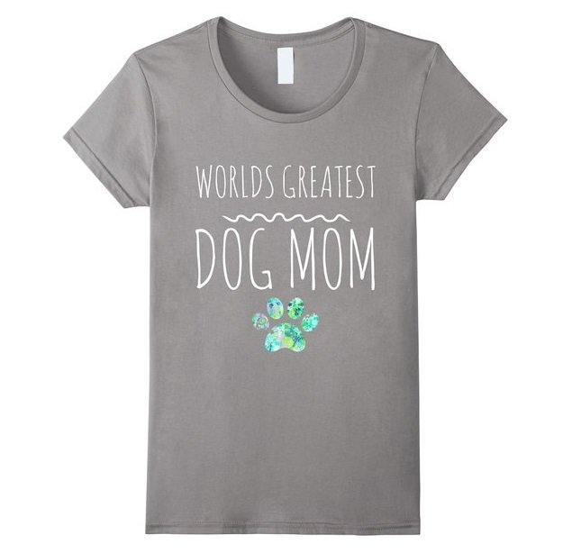 "Graphic T-Shirt ""World's Greatest DOG Mom"" 