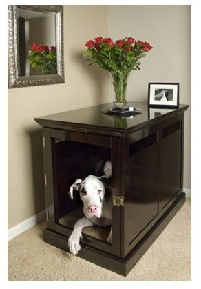 Extra Large Espresso TownHaus Hideaway Dog House Nightstand End Table