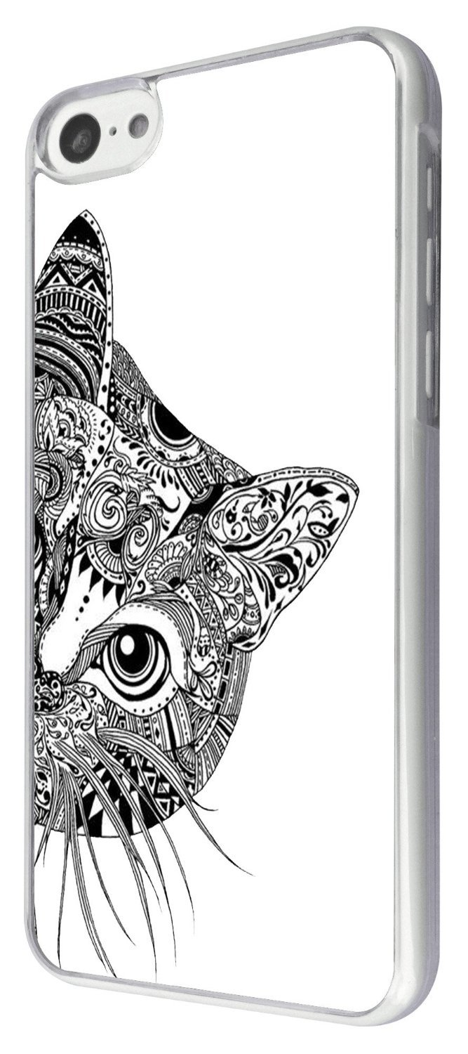 Funky Cat Face Design Case Back - Cover Metal and Hard Plastic Case | Animals Zone