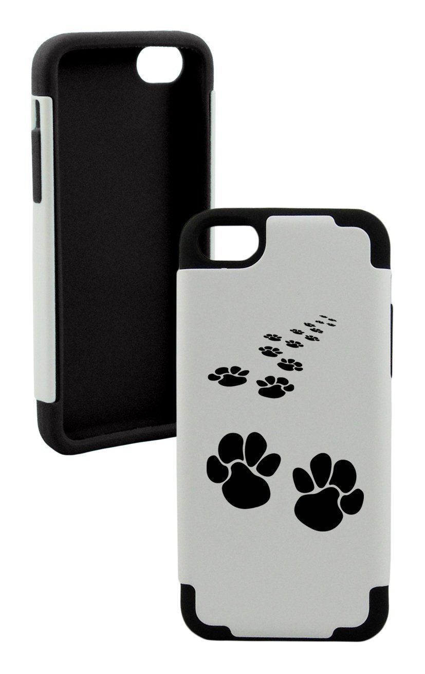 Foot Print Plastic & Silicone Black Case | Animals Zone
