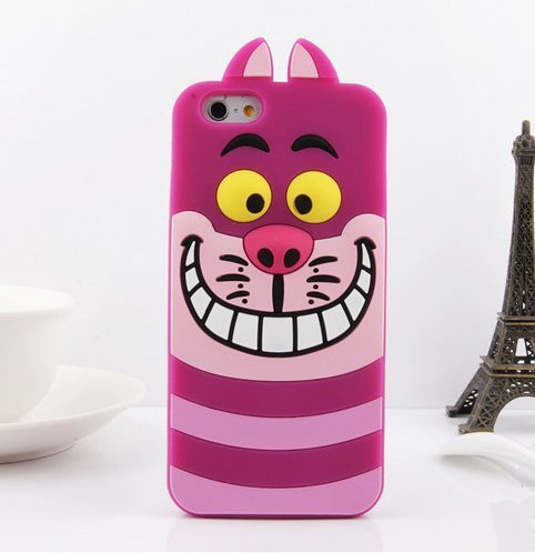 3D Cute Cartoon Cheshire Cat Soft Silicone Gel Case Back Cover | Animals Zone