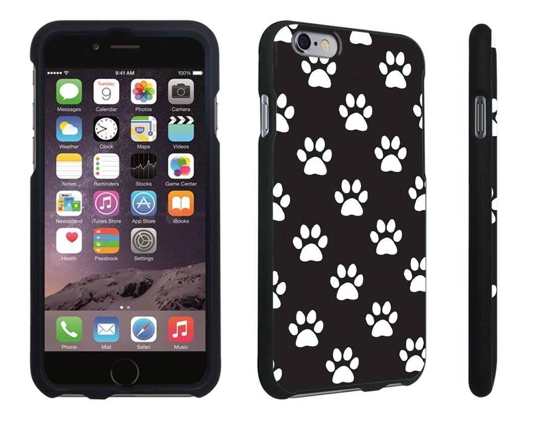 Paw Print Black - Hard Case Black | Animals Zone