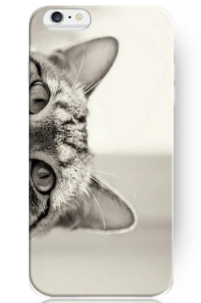 Anti-Scratch Hard Plastic Cover - Peeking Cat   Animals Zone