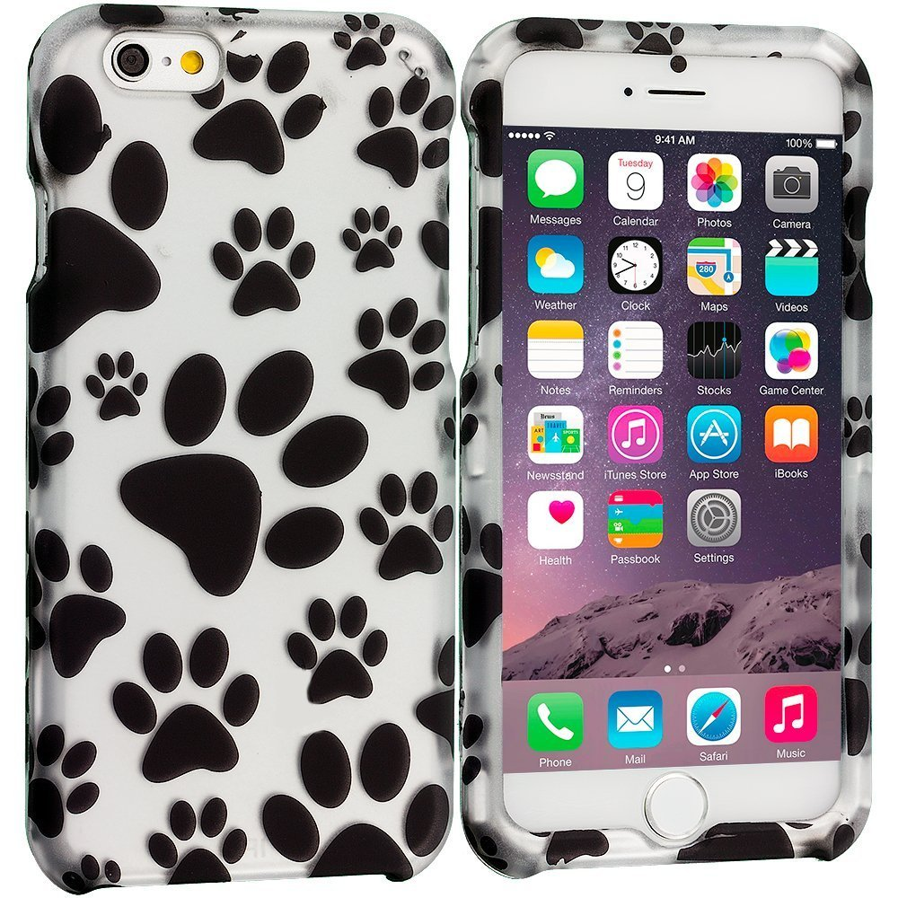 Dog Paw 2D Hard Snap-On Design Rubberized Case | Animals Zone