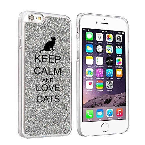Glitter Bling Hard Case Cover Keep Calm and Love Cats | Animals Zone