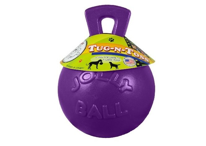 Jolly Ball - It comes in different sizes. Bounces and floats, handle makes for easy fetch and retrieve | Animals Zone