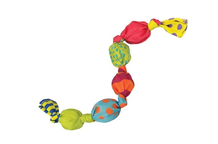 Petstages Stuffing Free Mini Squeak Chain Dog Toy | Animals Zone