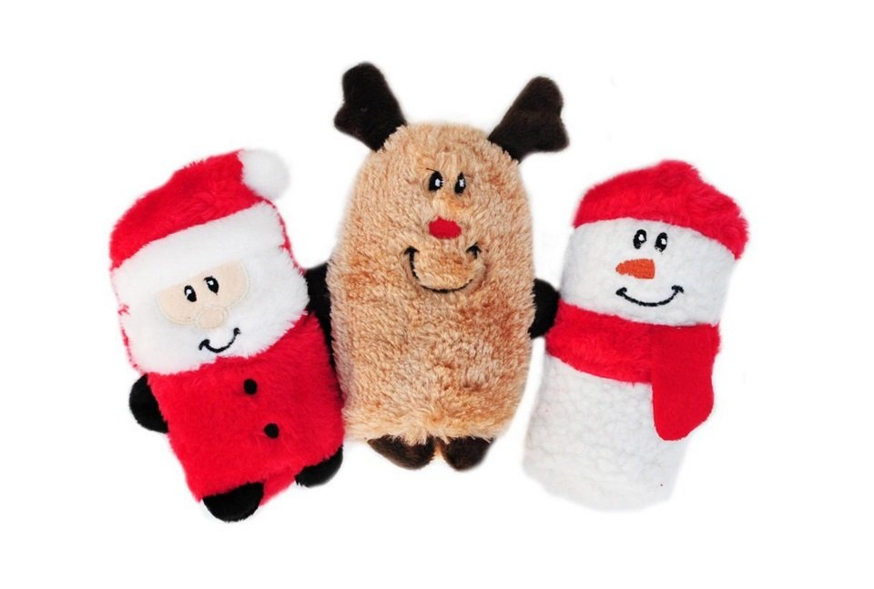 Holiday Gift Guide: ZippyPaws Holiday Squeakie Buddies Plush Dog Toys | Animals Zone
