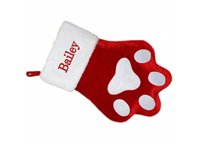 Holiday Gift Guide: Personalized Dog Paw Christmas Stocking | Animals Zone